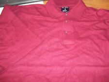 UNEEK mens short sleeve BURGUNDY / RED Polo shirt UC101 3XL (XXXL) NEW