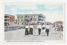 Wildwood,N.J.Washington Bath Houses from Boardwalk,Cape May County,c.1918-30s