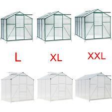Aluminium Gewächshaus Treibhaus inkl. Fundament bis 7,6m³ Tomatenhaus Pflanzhaus