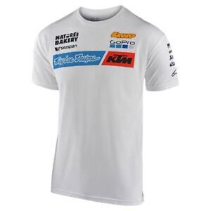 2020 Troy Lee Designs TLD KTM Team Adult T-Shirt White MOTOCROSS MX TOP NEW