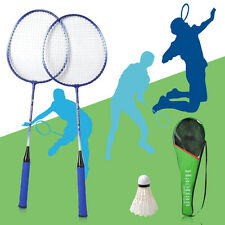 Pro. 2x Badminton Racket High-strength Aluminium Alloy Racquet Bag Badminton