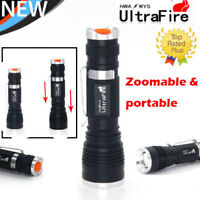 30000LM 3-Modes Flashlight LED T6 LED 18650 Zoomable Torch Lamp Light Powerful^