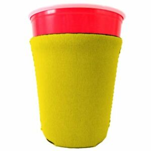 Blank Neoprene Collapsible Party Cup Coolie; 16-18 oz cups Compatible with Solo