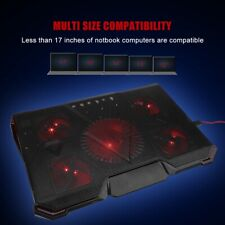 "Laptop Cooling Fan Pad Cooler Mat for 13""/15"" Gaming Notebook With USB Hub DD"