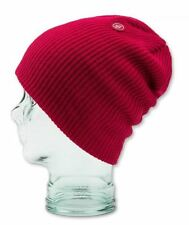 2016 NWT WOMENS VOLCOM POWER PREMIUM BEANIE $20 one maroon knit modern fit logo