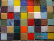 50 Multi Coloured Mix Vitreous Glass Mosaic 20 x 20x 3mm Tiles