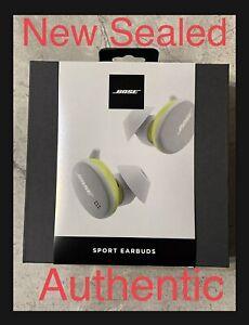 New - Bose Sport Earbuds True Wireless Bluetooth  Glacier White Sealed