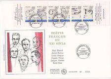 Enveloppe grand format 1er jour 1991 Poètes Français du XXème Siècle