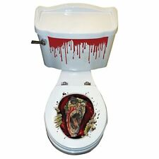 Halloween SFX Scary Evil Dead Zombie Toilet Seat Grab Sticker Party Decoration