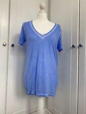 Ladies Banana Republic Size Small Blue T-shirt Tie Dye Effect