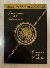 Mexico $5 Cinco Pesos Bicentenial & Centenial Conmemorative Album Folder Monedas