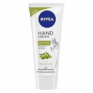 NIVEA Hand Cream, Soothing Glycerin & Olive, 75 ML