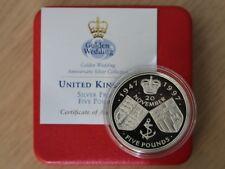 1997 Golden Wedding £5 Five Pound Silver Proof Coin Box Coa X19