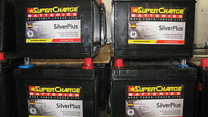 SUPERCHARGE SILVER PLUS MAINTENANCE FREE SMF57 OR SMF58 CAR BATTERY HOLDEN FORD