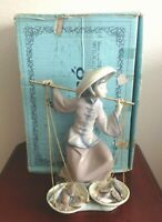 LLADRO DAISA 1981 LADY FISH A PLENTY HAND MADE PORCELAIN FIGURINE. 05172. SPAIN