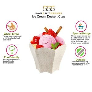 750 Mini Dessert Cups 70ml (2.4 oz) – Wheat Straw, Candy, Ice Cream, Fruit, Nuts