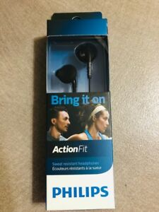 Philips ActionFit Sports in ear headphones SHQ1200TBK ActionFit In-ear Black