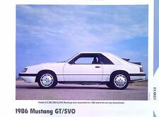 1986 Ford Mustang GT SVO Turbo Info/specs/photo/prices production numbers 11x8