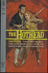 vtg pulp book novel The Hothead by Leon Phillips Pocket Books First Edition
