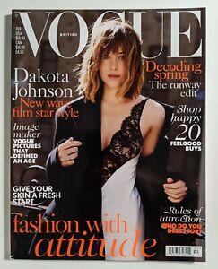 Vogue Magazine UK Dakota Johnson cover February 2016   Mint