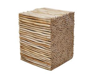 Hocker Wood Sitting Stool Teakwood Bathroom For Towels Pillow Bathroom Stool