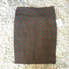 NWT LuLaRoe Cassie straight pencil skirt black red print size XL Xlarge