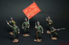 Tin Soldier Set - Red Army 6 figure hand painted 54mm