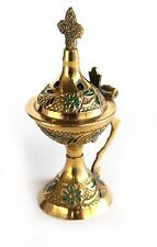 Greek Russian Orthodox Small Decorative Brass Mini Incense Burner Censer S-03