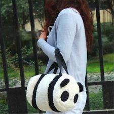 FD4153 Large Cute Soft Plush Panda Handbag Travel Storage Shoulder Zipper Bag♫