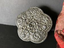 Old Pewter Vanity Box …beautiful collection piece