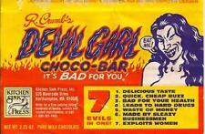 1970s R CRUMB Devil Girl Choco-Bar replica magnet - new!