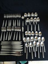 Stainless Steel Flatware Korea Satin Handle 49pc. Set