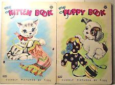2 Vintage Children's Books - My Puppy & My Kitten  - Lowe Publ.  Kippy Illus.