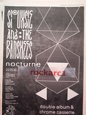 SIOUXSIE & Banshees Nocturne album 1983 UK Poster size Press ADVERT 16x12 inches