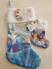 """FROZEN OLAFS ADVENTURE NEW CHRISTMAS STOCKING 18"""" and 8"""" included"""