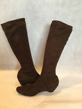 PAZZO WOMEN'S BROWN SUEDE KNEE BOOTS-SIZE 8M
