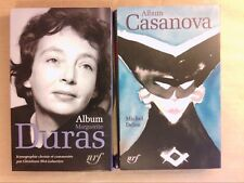 LOT 2 ALBUMS LA PLEIADE / MARGUERITE DURAS + CASANOVA / 2014 & 2015 /COMME NEUFS