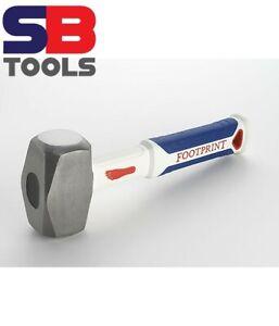 Footprint 4lb Heavy Duty Hardened Steel & Fibreglass Handle Club Lump Hammer UK