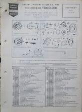 Chervrolet  PKW´s 6Zyl. 1955 Rochester Vergaser BC Teile +  Einstellung deutsch