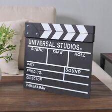 Movie Film TV Slate Clapper Board Dry Erase Clapboard Cut Action Scene Wood
