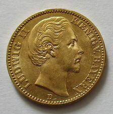 Kaiserreich Bayern 20 Mark 1874 D,Ludwig II, Jäger 197, Rare Erhaltung!!