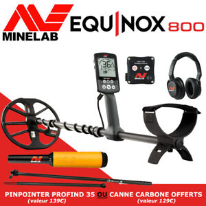Detecteur EQUINOX 800 + canne carbone offerte