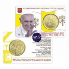 Coincard euro 0,50€ VATICAN 2019 n°10 - Le Saint Père - Brillant Universel