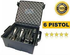Tactical Large Handgun Pistol Storage Carry Case 6 Gun New