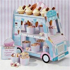 Ice Cream Truck Cupcake Dessert Ice Cream Three Tier Stand Party Decoration