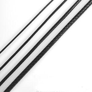 Schwarz! Verschiedene stärken wählbar! Gewachste Polyester-Schnur Kordel Faden