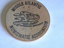 WOODEN NICKEL Middle Atlantic Numismatic Association 1966 Washington, DC