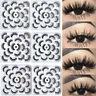 10 Pairs 3D Mink False Eyelashes Handmade Thick Fake Eye Lashes Extension Makeup