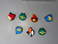 Angry Bird Lot Of 7 Shoe Charms, Bracelet, Lace Adaptor Charms