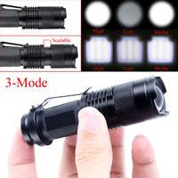 Mini Q5 Zoomable LED Flashlight Hiking Torch Lamp Light 1200LM Super Bright